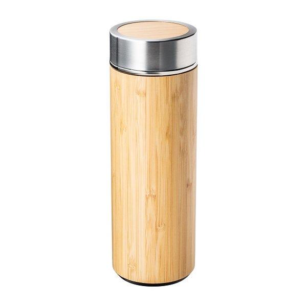 Isolierflasche aus Edelstahl und Bambus mit Teesieb RETUMBLER-ADAMUZ