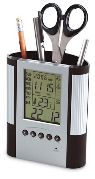 Alarmuhr mit Thermometer REFLECTS-MOSTOLES