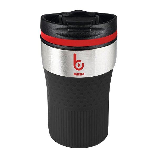 Thermobecher RETUMBLER-BAYAMO CORPORATE silver veredeltes Muster