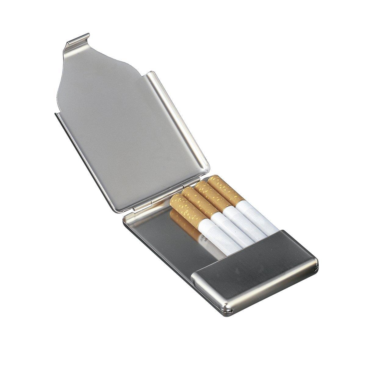 Zigaretten Visitenkartenbox Reflects Tough Matt Silver Finish
