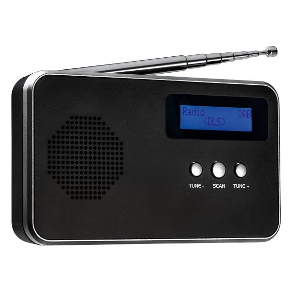 Tragbares Digitalradio FM / DAB+ REEVES-BARCELOS black/silver