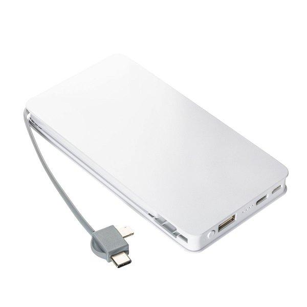 Wireless charging powerbank REEVES-BASEL white 5000 mAh