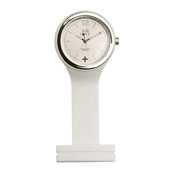 Uhr LOLLICLOCK-CARE white/silver