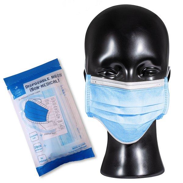 Gesichtsmaske PACK10 light blue