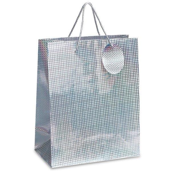 Geschenktüte REFLECTS-PINOLE L silver
