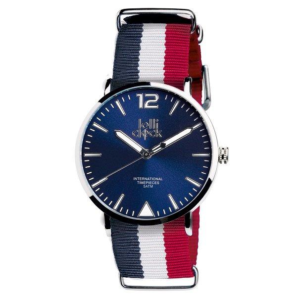 Armbanduhr LOLLICLOCK-FASHION FRANKREICH blue/white/red