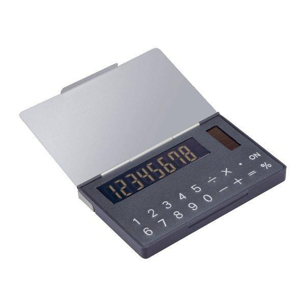 Solartaschenrechner mit Visitenkartenbox REFLECTS-PERNIK