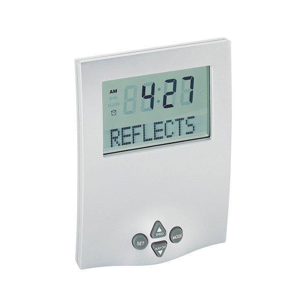 Uhr mit Laufschrift REFLECTS-SYDNEY